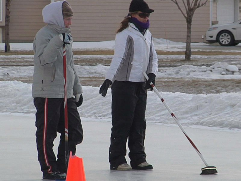 ice skating at frosty frolics