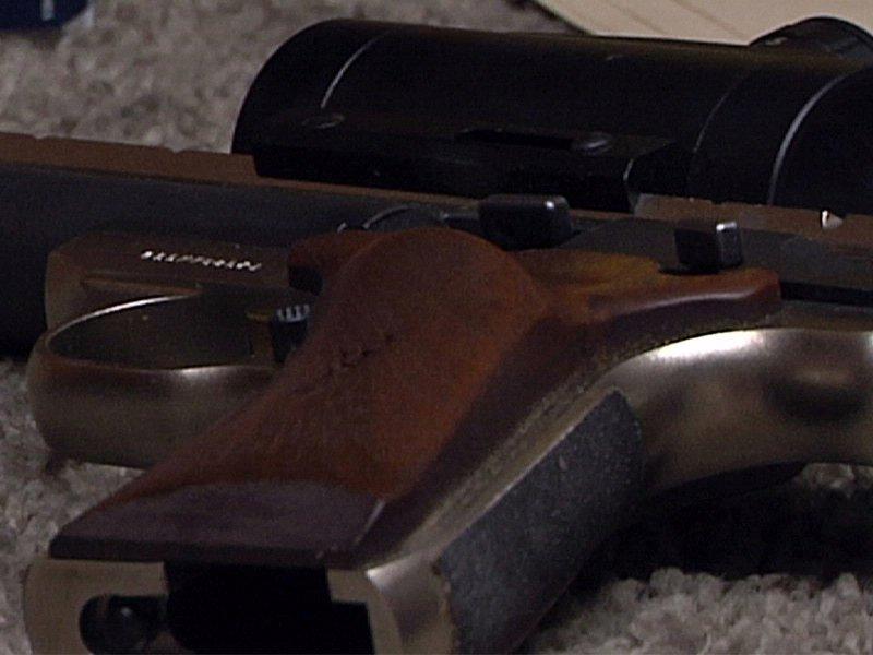 hand gun, pistol