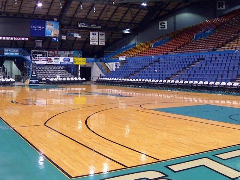 Sioux falls arena events center neighbor skyforce basketball court