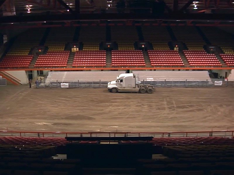 rushmore plaza civic center transforms for rodeo & stock show