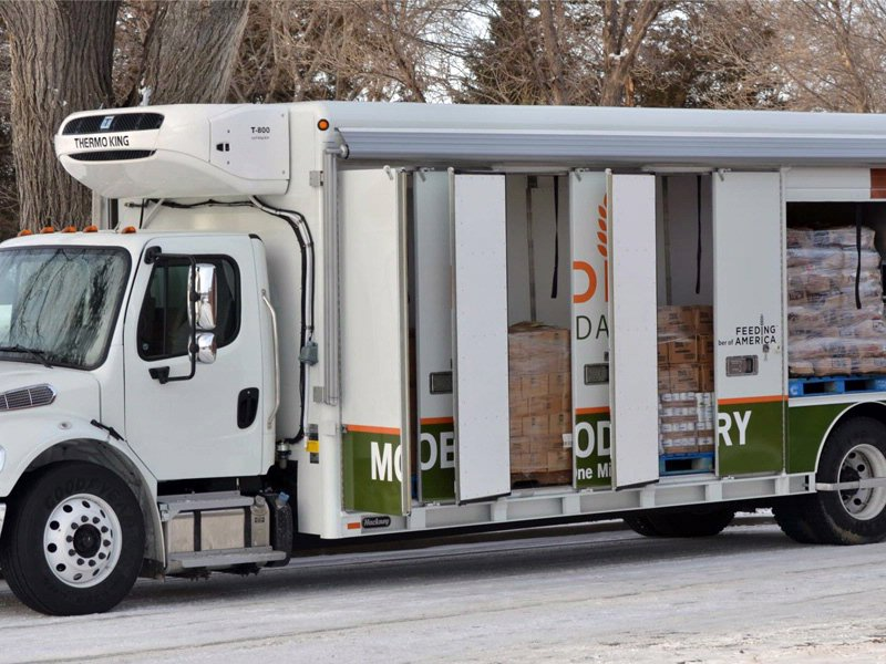 mobile feeding south dakota new truck to deliver food to hard to reach locations