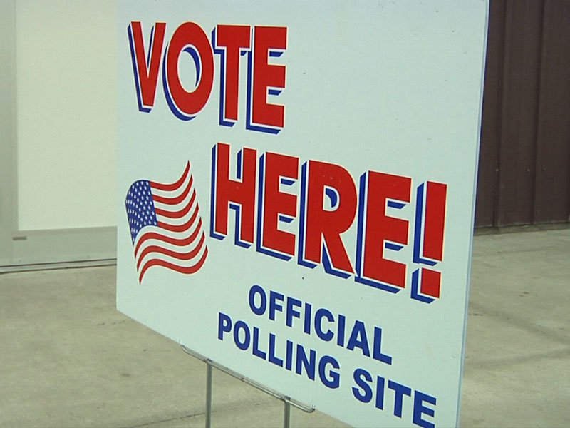 vote here sign, voting centers, polling site