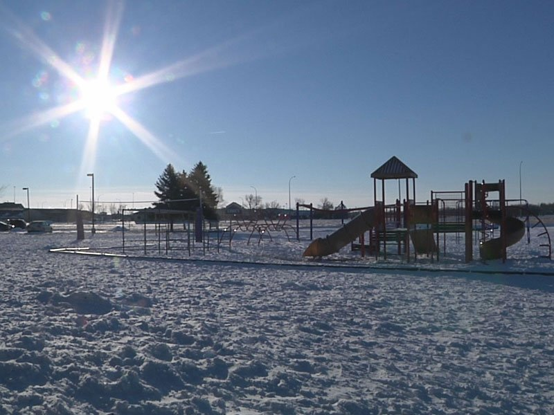 too cold for recess, st. michael catholic school playground