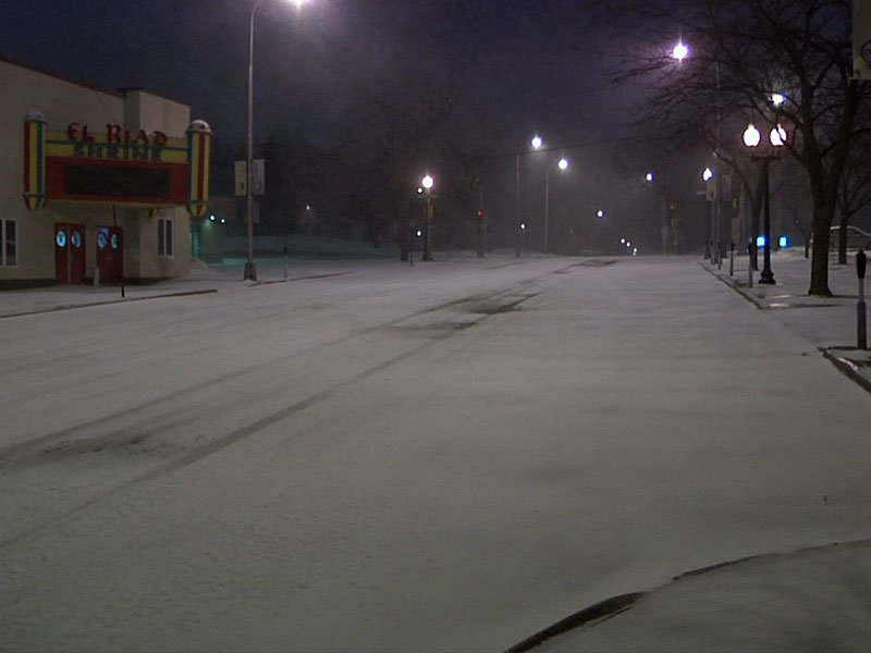 sioux falls roads, snowy roads, winter
