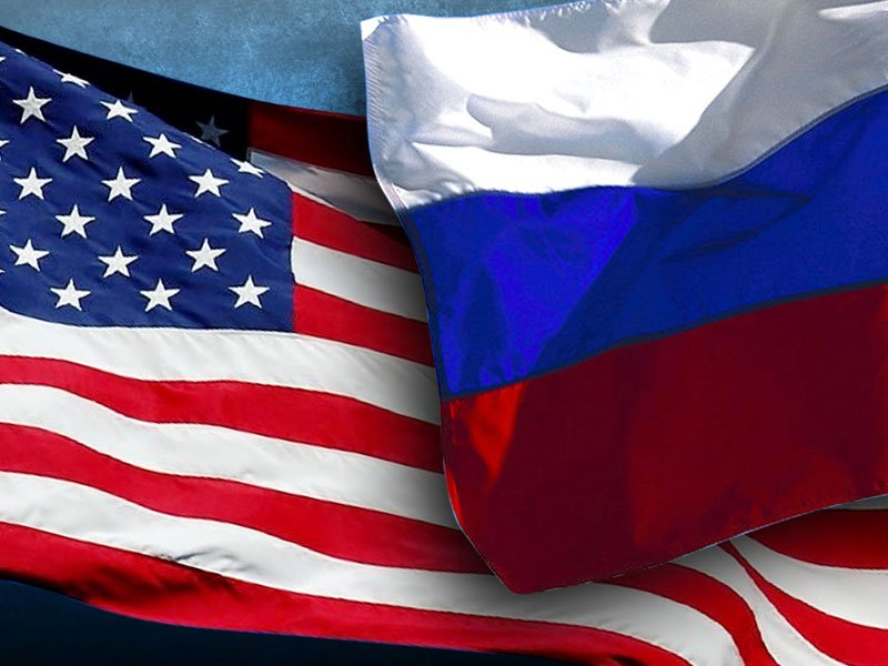ukraine crisis, us and russia flags, conflict