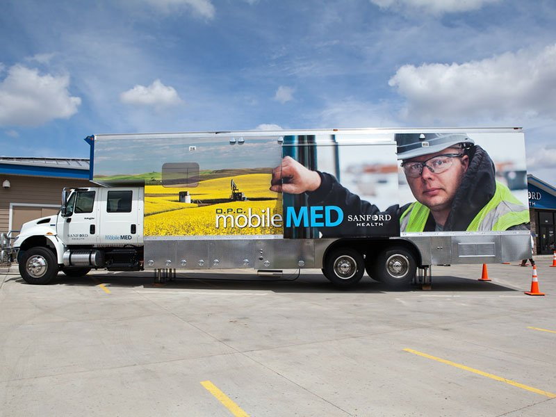 sanford health mobile clinics units north dakota oil fields