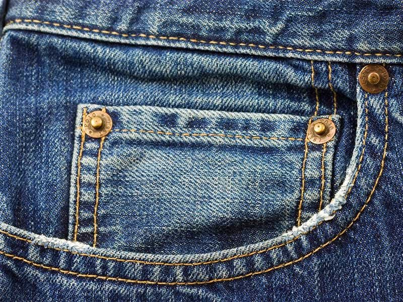 jeans denim pocket close up