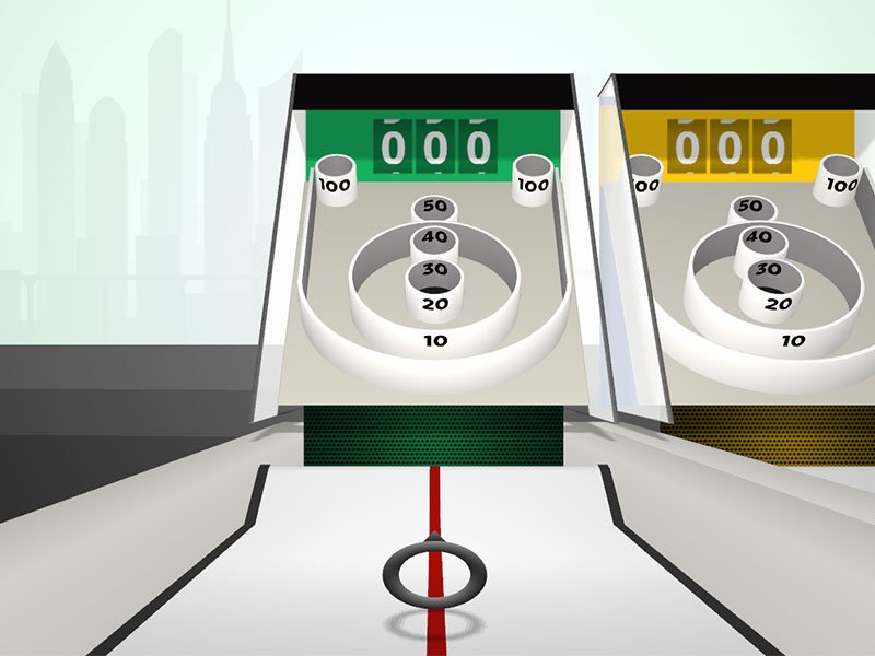 skee ball google roll it