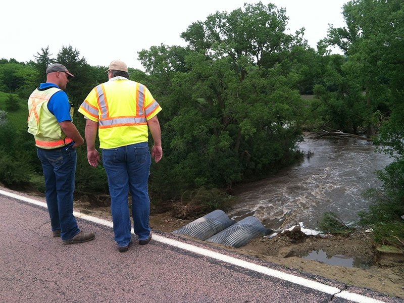 lake alvin highway 135 eroded flooded one lane