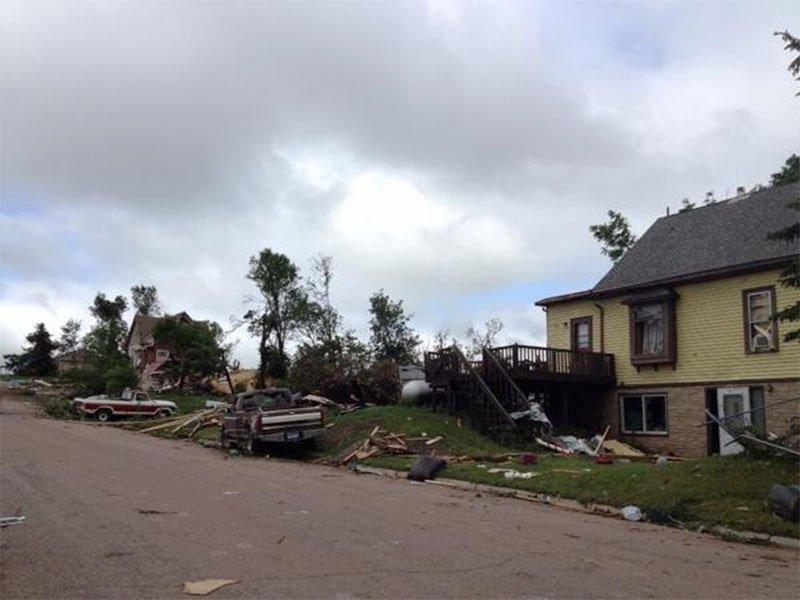wessington springs tour tornado damage
