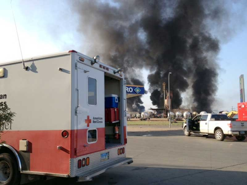 williston explosion red cross