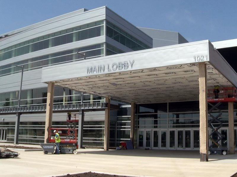 denny sanford premier center construction entrance
