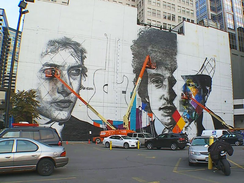 Minneapolis building to get giant mural featuring bob dylan for Mural eduardo kobra