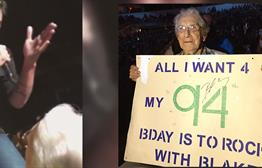 94-Year-Old Celebrates Birthday At Blake Shelton Concert, Video Goes Viral