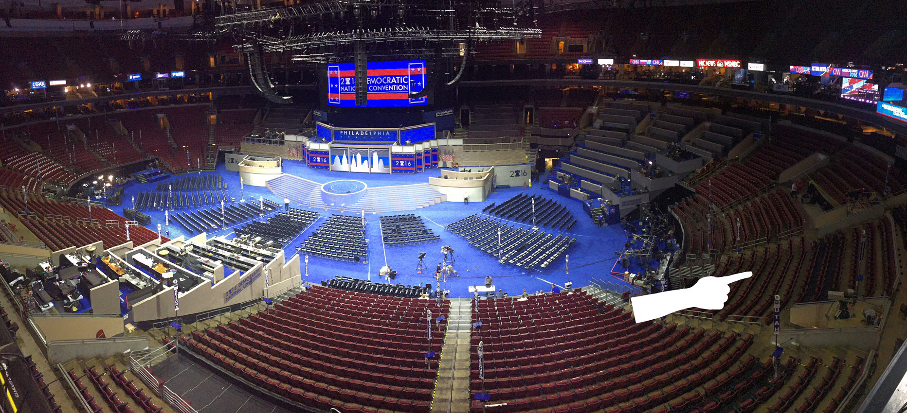 dnc philly floor plan who gets prime seats and nosebleeds
