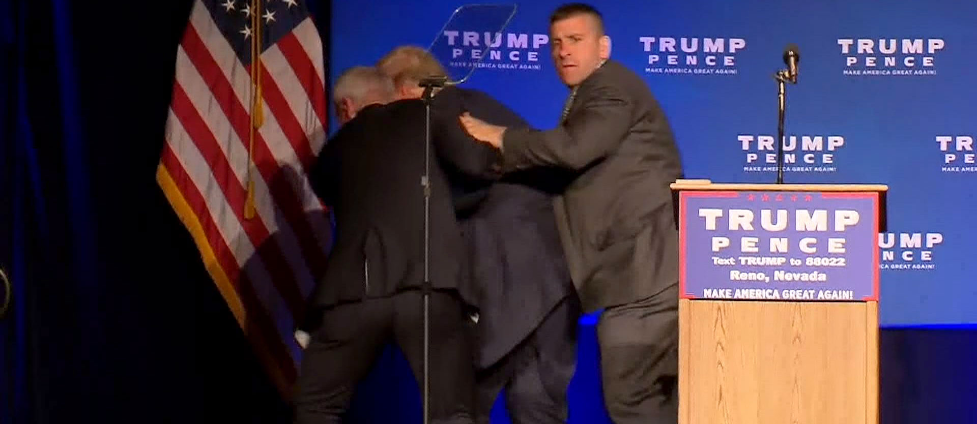 Donald Trump Rushed Off Stage By Secret Service