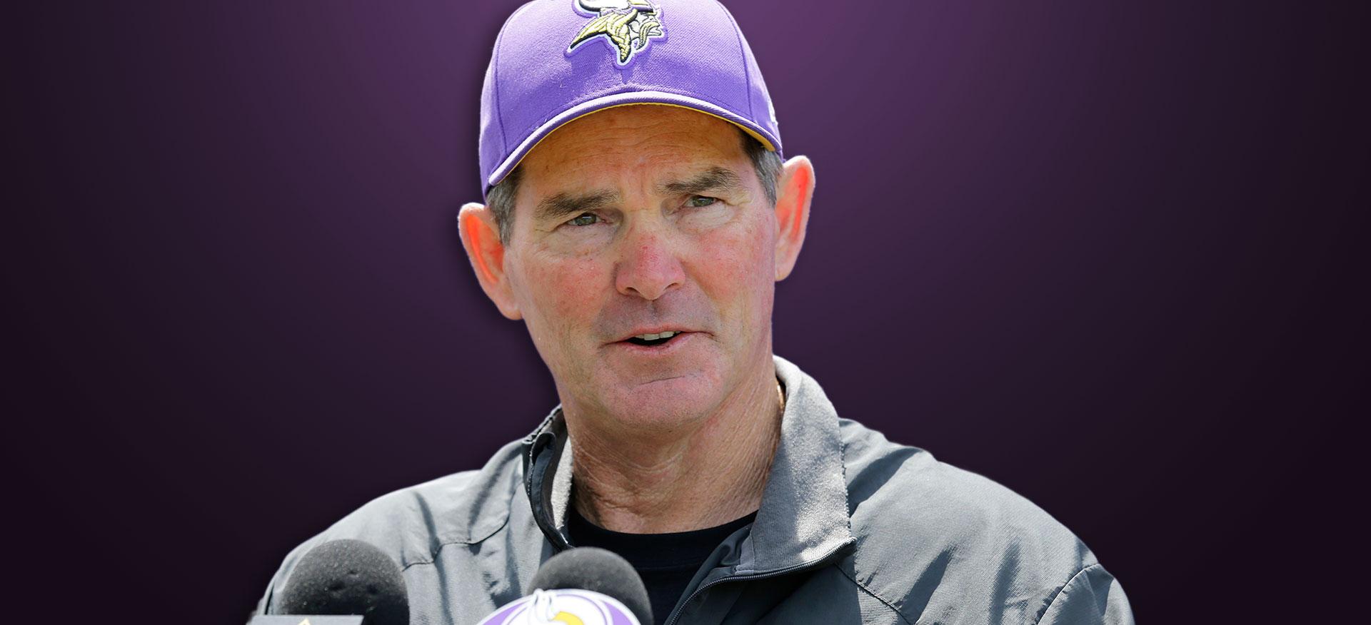 Coach Mike Zimmer Minnesota Vikings