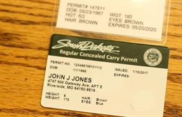 New Conceal Carry Permit Cards In South Dakota