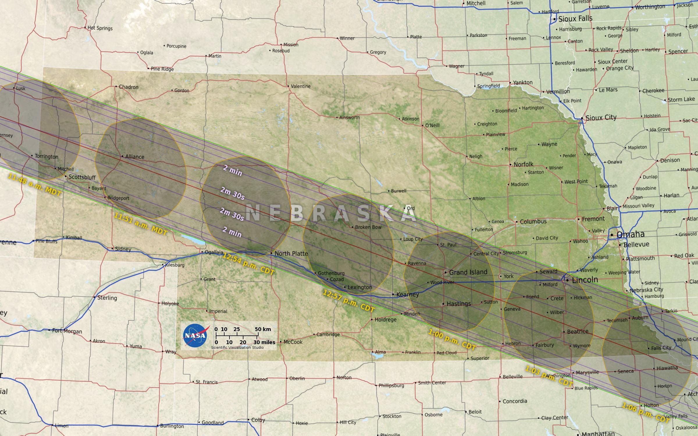 Eclipse South Dakota SW Minnesota And NW Iowa KELOLAND TV - Total eclipse us coverage map