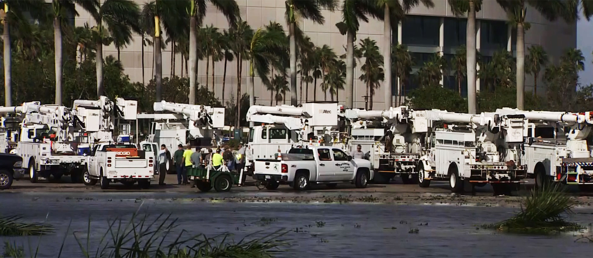 power trucks Irma response Florida