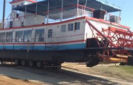 Paddle Boat Off Missouri River Following Journey Through U.S.