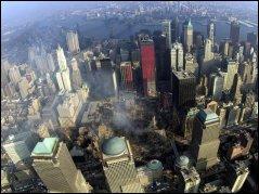 World Trade Center aftermath, big hole in ground