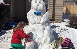 Easter Snow Fun was a group effort