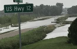 Flooding near Milbank