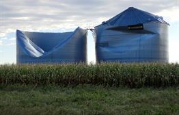 Grain Bins south of Madison SD