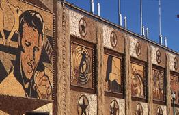 Corn Palace Murals Showing Age