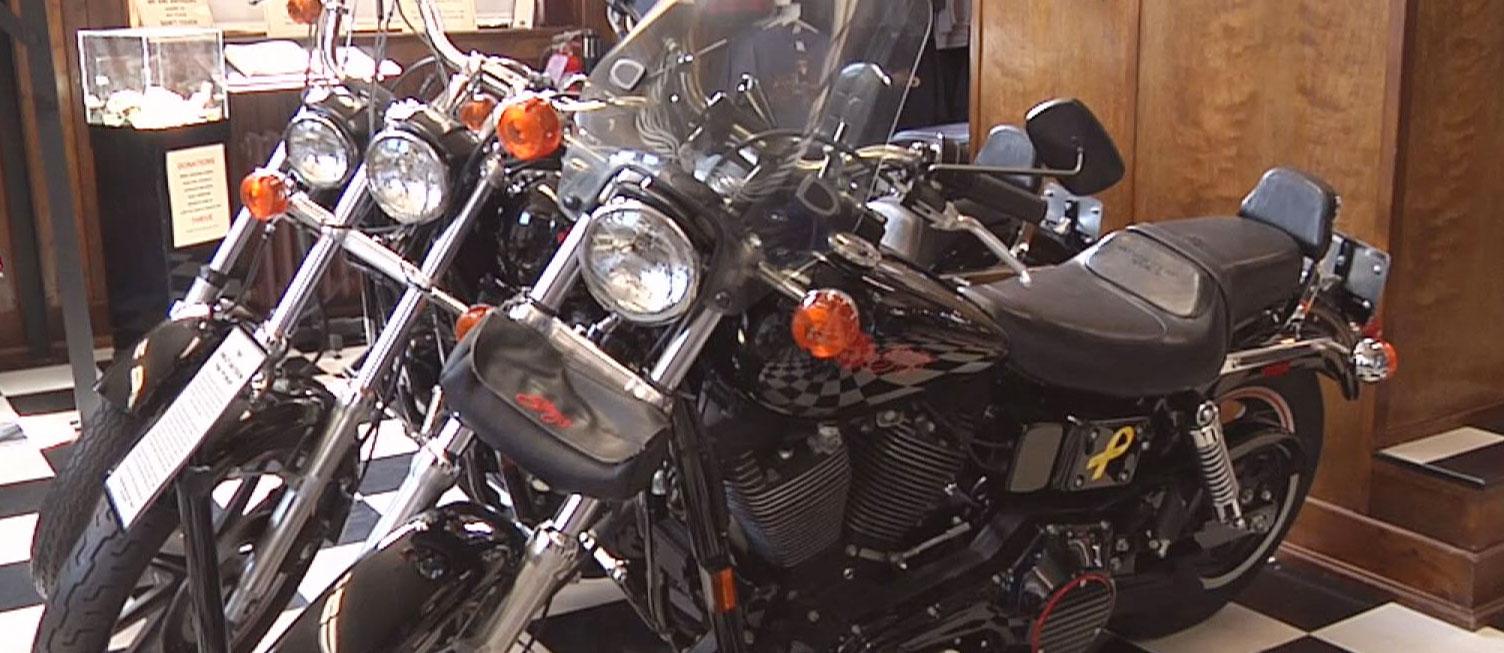 motorcycle display Sturgis South Dakota rally