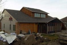 Homeowners repair flood damage