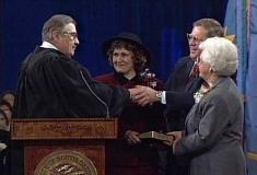1995 Janklow Sworn In For 3rd Term As Governor
