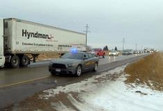 Highway Patrol monitoring conditions, traffic