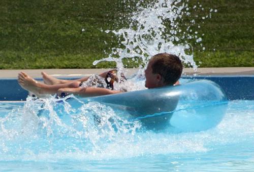 Swimming at Drake Springs Pool