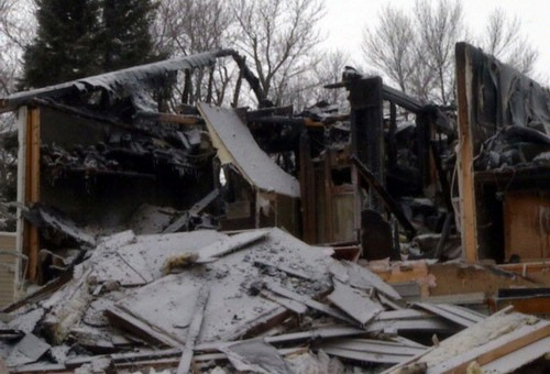 Explosion destroyed the home