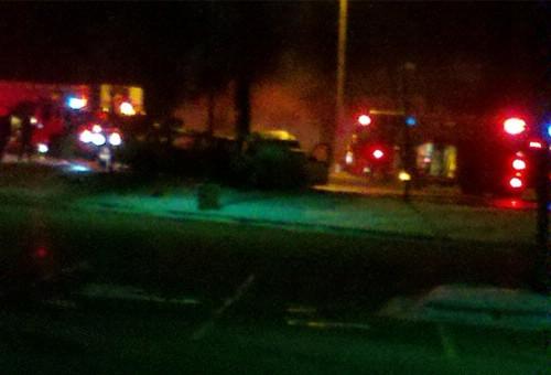 The crash happened at 1:30 a.m. Sunday.