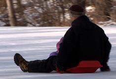 Sledding at Tuthill Park