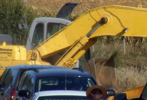 Excavator brought in to remove evidence