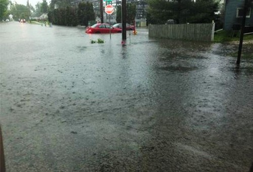 Flooding at 33rd Street and Duluth Avenue
