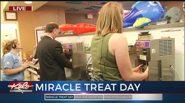 Scot, Bailey Make Blizzards For Miracle Treat Day