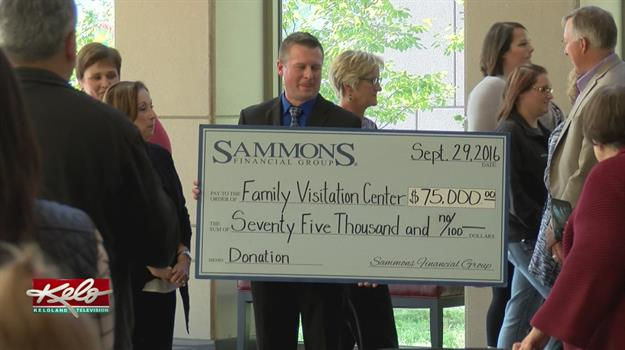 Family Visitation Center Receives Big Donation