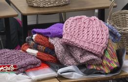 Roosevelt Club Making Baskets, Blankets For Those In Need