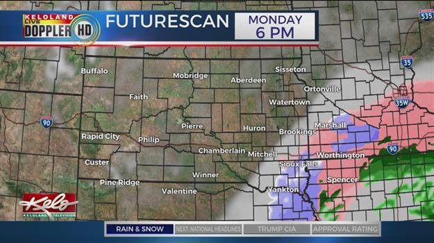 Freezing Rain And Drizzle Move Into Iowa, South Dakota And Minnesota