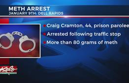 Man Arrested In Dell Rapids With Over 80 Grams Of Meth