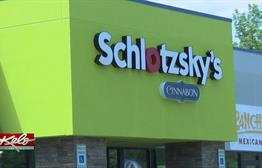 Long Line For Schlotzsky's Grand Opening