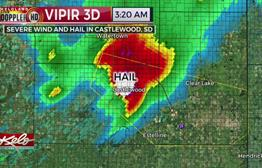 Hail, Strong Winds Leave Behind Damage And Debris
