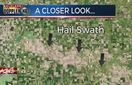 Satellite Images Show Hail Damage From Castlewood To Marshall