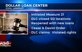 Dollar Loan Center Suing Director Of SD's Division Of Banking