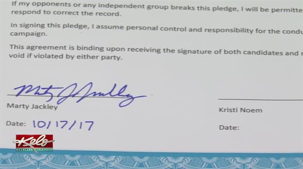 Noem, Jackley Disagree Over Clean Campaign Pledge